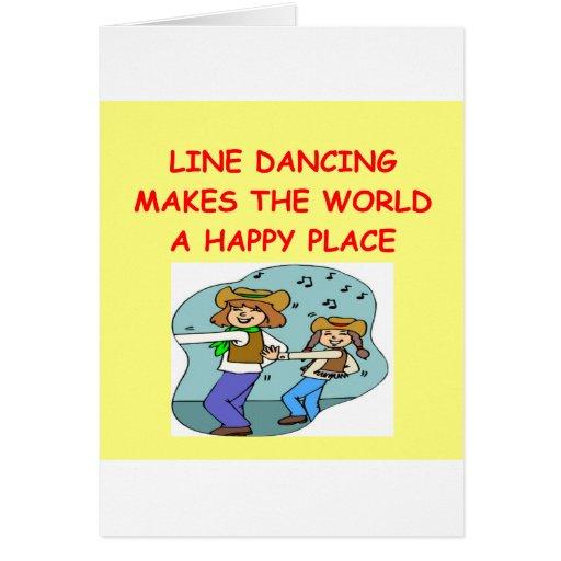 línea baile tarjeta de felicitación