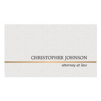 Línea blanca abogado del oro de la textura tarjetas de visita