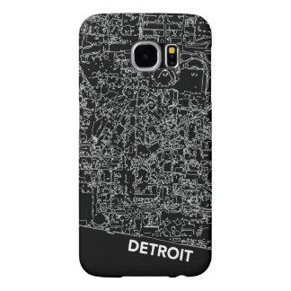 Línea blanca caja de Detroit de mapa Funda Samsung Galaxy S6