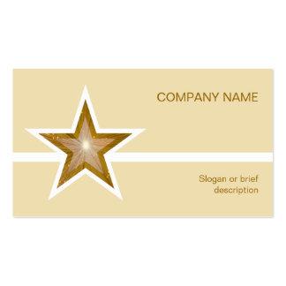 Línea blanca crema de la estrella del oro de la tarjetas de visita