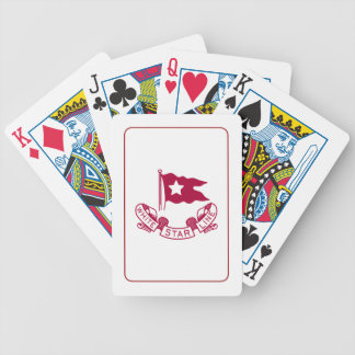 Línea blanca de la estrella baraja cartas de poker