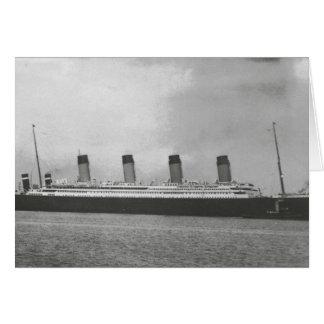 Línea blanca de la estrella - titánica - navegació tarjeta de felicitación