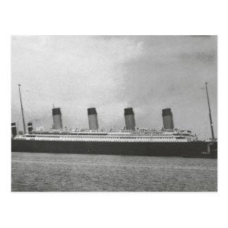 Línea blanca de la estrella - titánica - navegació tarjeta postal