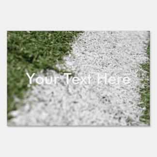 Línea blanca del fútbol carteles