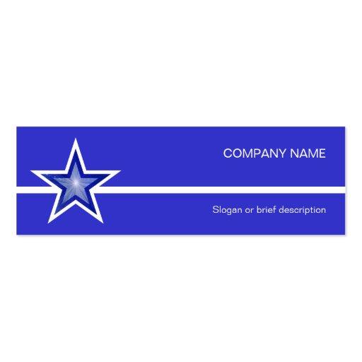 Línea blanca flaco azul de la estrella azul marino tarjetas de visita mini