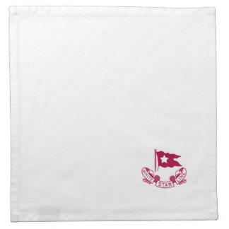 Línea blanca logotipo de la estrella servilleta de papel