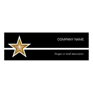 Línea blanca negro de la estrella del oro de la tarjetas de visita mini