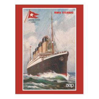 Línea blanca titánica de la estrella del RMS Tarjetas Postales