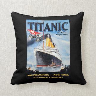 Línea blanca titánica poster de la estrella almohadas