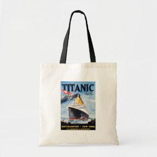 Línea blanca titánica poster de la estrella bolsas