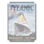 Línea blanca titánica poster de la estrella invitacion personalizada