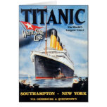 Línea blanca titánica poster de la estrella tarjeta
