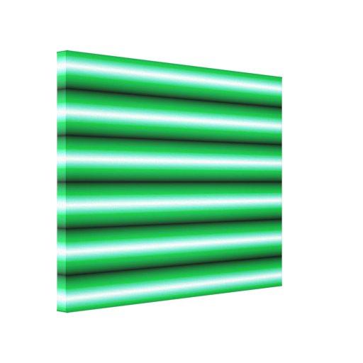 Línea blanca verde modelo impresion de lienzo