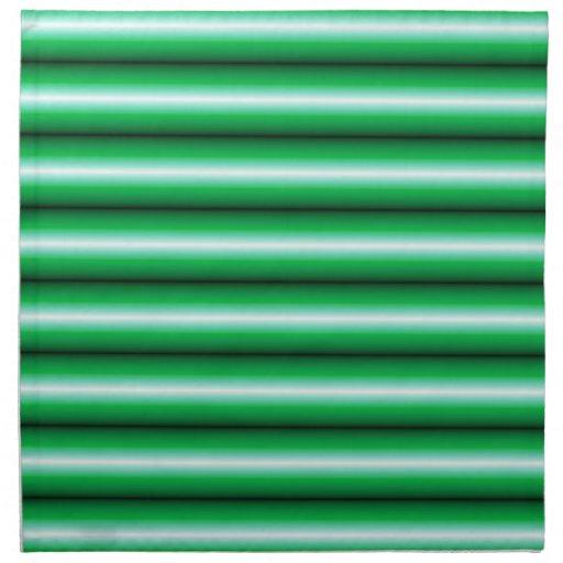 Línea blanca verde modelo servilletas de papel