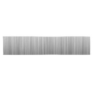 Línea blanco y negro diseño camino de mesa corto