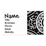 Línea blanco y negro enrrollada arte del modelo de tarjetas de visita