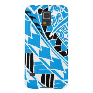 LineA Blue Polynesian Tattoo Case For Galaxy S5