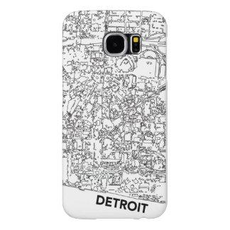 Línea caja de Detroit de mapa Funda Samsung Galaxy S6