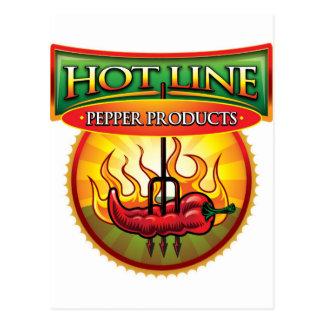 Línea caliente productos de la pimienta postales