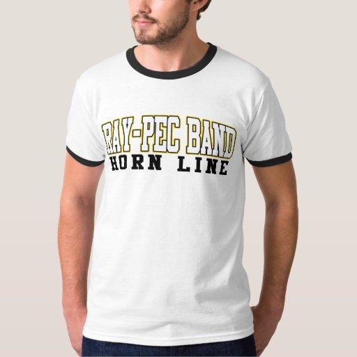 Línea camisa del cuerno de la banda Rayo-CPE