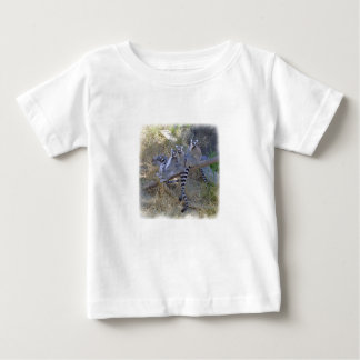Línea camiseta del Lemur del niño Playera