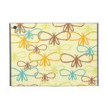 Línea caprichosa bonita mariposas de la libélula d iPad mini funda