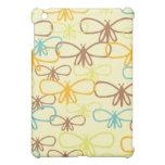 Línea caprichosa bonita mariposas de la libélula d iPad mini fundas
