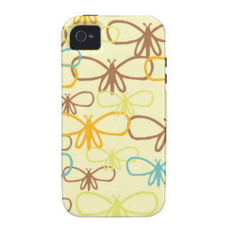 Línea caprichosa mariposas de la libélula del arte iPhone 4/4S fundas