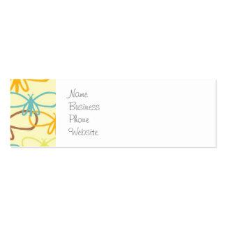 Línea caprichosa mariposas de la libélula del arte plantillas de tarjetas personales