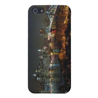 Línea caso del cielo de New York City del iphone 4 iPhone 5 Fundas