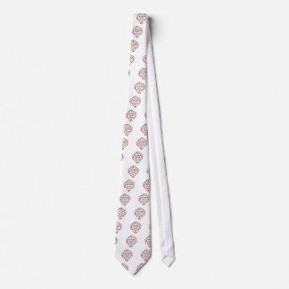 Línea chispas del baile corbata personalizada
