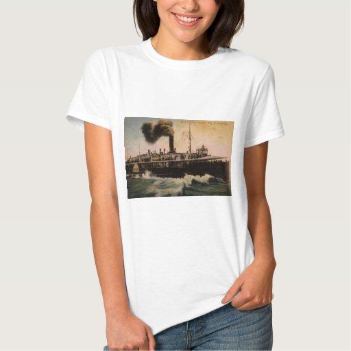 Línea ciudad de D&C del vapor de Mackinac Playera