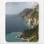 Línea cojín de la costa de Amalfi de ratón Alfombrillas De Ratón