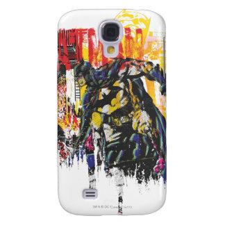 Línea collage de Batman del arte Funda Para Galaxy S4