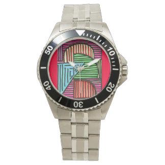 Línea coloreada reloj