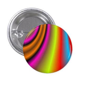 Línea colorida de moda chapa redonda 2,5 cm