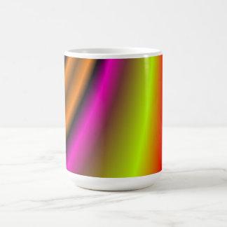 Línea colorida de moda taza de café