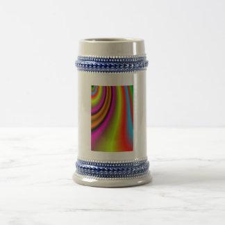 Línea colorida de moda tazas