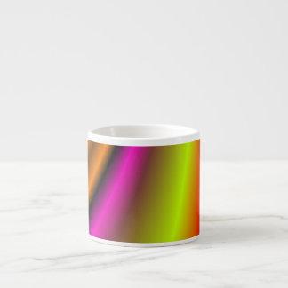 Línea colorida de moda tazitas espresso