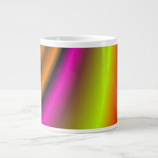 Línea colorida de moda tazas extra grande