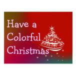 Línea colorida del navidad tarjeta postal