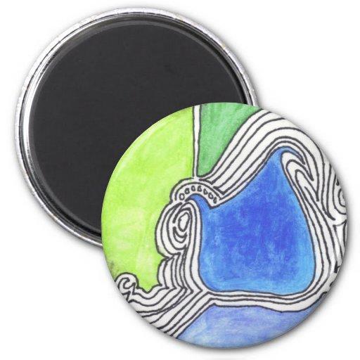 Línea colorida ejemplo de la impresión 14 del arte imanes