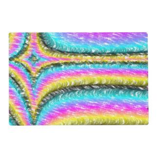 Línea colorida extraña modelo tapete individual