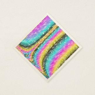 Línea colorida extraña modelo servilletas de papel