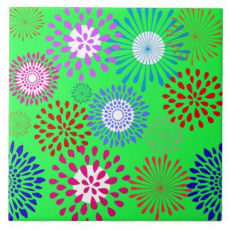 Línea colorida intrépida modelo de la flor de la v teja  ceramica