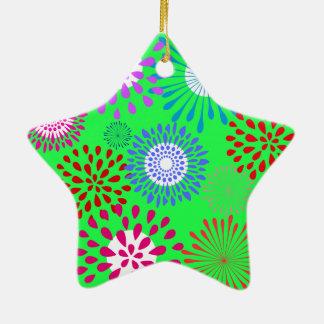 Línea colorida intrépida modelo de la flor de la v ornamento para reyes magos