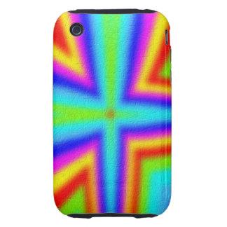 Línea colorida modelo tough iPhone 3 fundas
