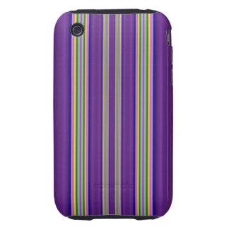 línea colorida modelo tough iPhone 3 protectores
