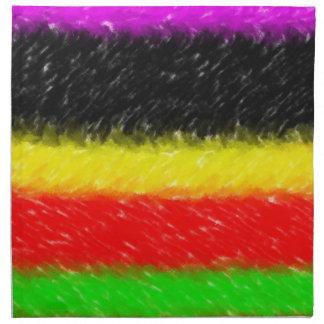 línea colorida modelo servilleta