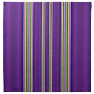 línea colorida modelo servilletas